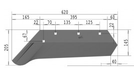 Vomeri per aratro Moro Niemeyer