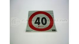 Disco adesivo limite velocità 40