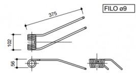 Dente per girello Fahr dx e sx T.V.