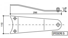 Piastra portalama Galfrè 165