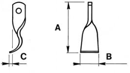 Coltello mezzo giro per trincia Palladino