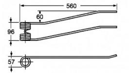 Dente per giroandanatore Borello corto