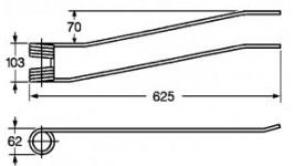 Dente per giroandanatore Borello lungo