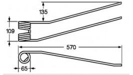Dente per giroandanatore Galfrè AG320