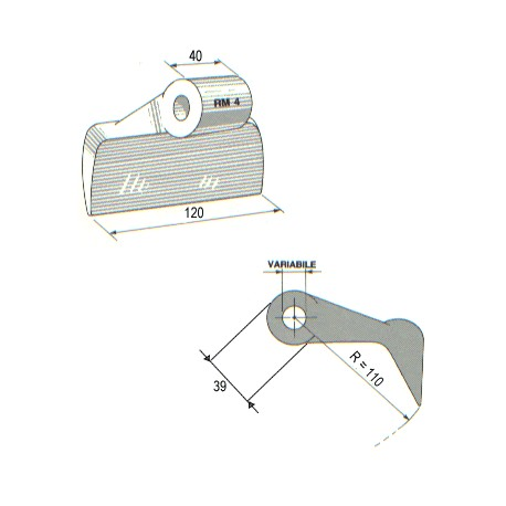 Mazze per trincia RM4