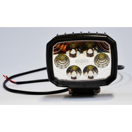 Fanali lavoro rettangolare a 6 LED